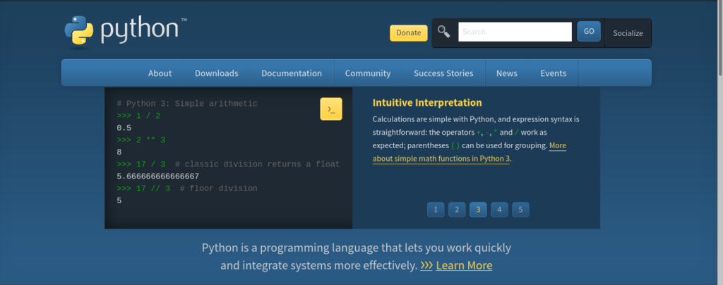 Learn Python from Python official website - https://www.python.org/